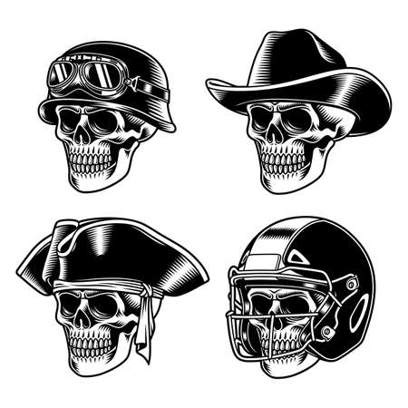 Skull Characters Collection Vector Illustration