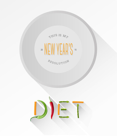resolutions: Digitally generated Diet spelled out with vegetables