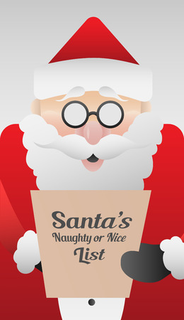 Generada digitalmente claus Santa lindo con la lista