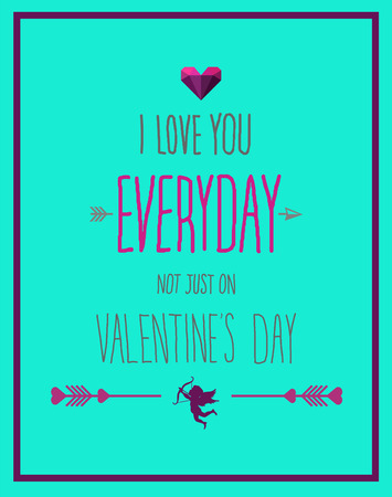 Digitally generated I love you everyday valentines vector Illustration