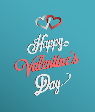 linking: Digitally generated Happy Valentines Day with hearts