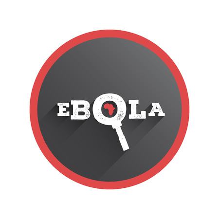 ebola: Digitally generated Ebola under the magnifying glass vector