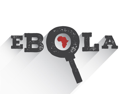pandemic: Digitally generated Ebola under the magnifying glass vector