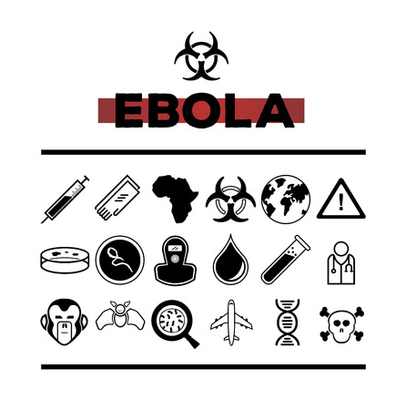 ebola: Digitally generated Ebola vector with text and symbols