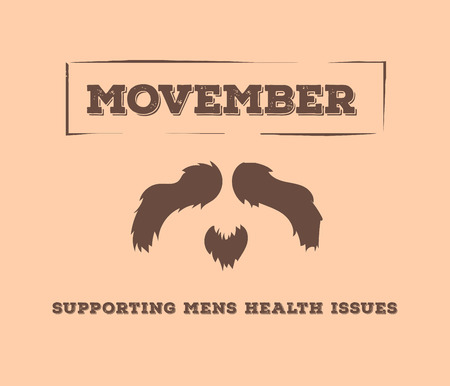 Digitally generated Movember advertisement vector with text and graphic Stock Vector - 38008234