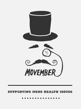 advertisement: Digital erzeugte Movember Werbung Vektor mit Text und Grafik Illustration
