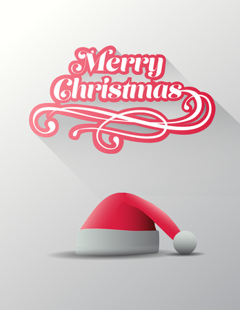 santa       hat: Digitally generated Merry christmas vector with cute santa hat illustration