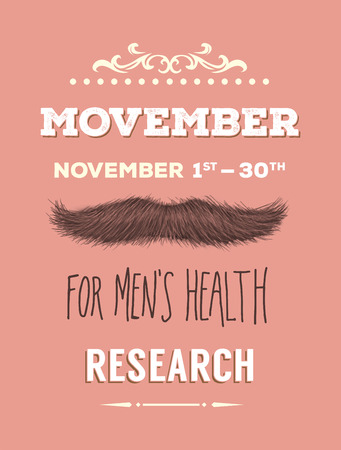 Digitally generated Movember advertisement vector with text