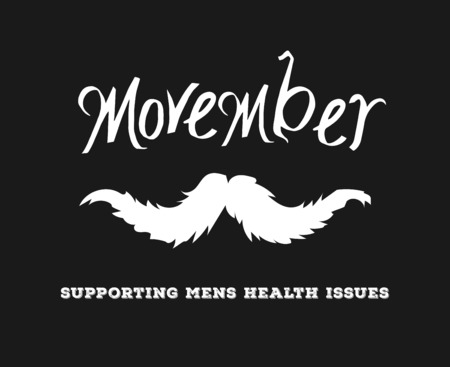 advertisement: Digitally generated Movember advertisement vector with text and graphic
