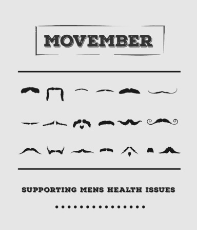 testicular: Digitally generated Movember advertisement vector with text and graphic