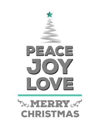 peace and love: Digitally generated Peace love and joy vector in green and grey