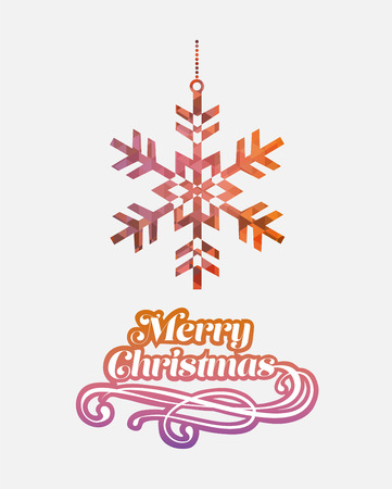 digitally generated: Digitally generated Merry christmas vector with snowflake