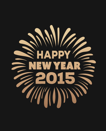 youthful: Digitally generated Happy new year 2015 vector