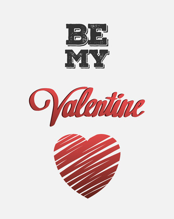 to be: Digitally generated Be my valentine vector with heart Illustration