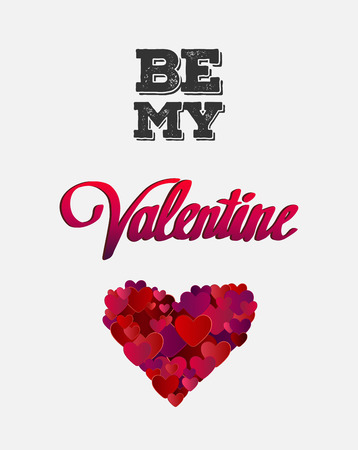 be: Digitally generated Be my valentine vector with heart Illustration
