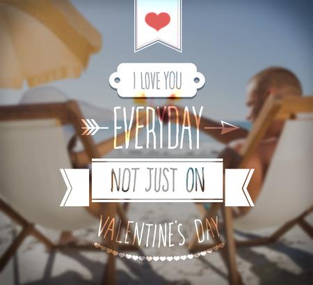 mindennapi: Digitálisan generált szeretlek mindennapi Valentin vektor