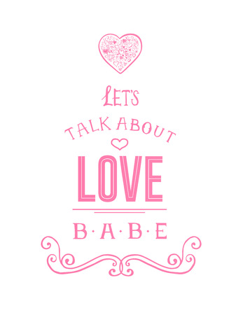 babe: Digitally generated Valentines day vector