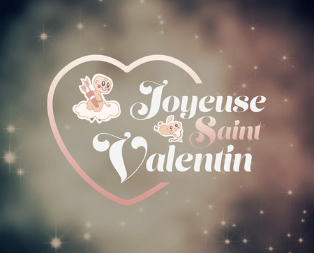 day saint valentin: Digitally generated Valentines day vector