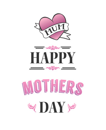 mothering: Digitally generated Happy mothers day vector