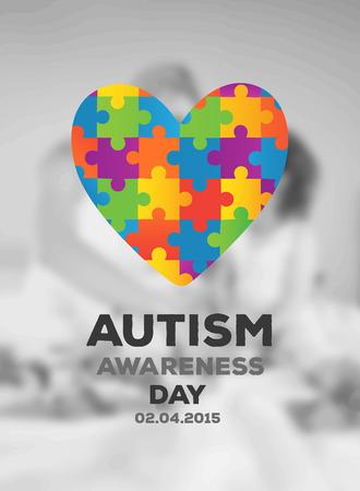 awareness: Digitally generated Autism awareness design vector