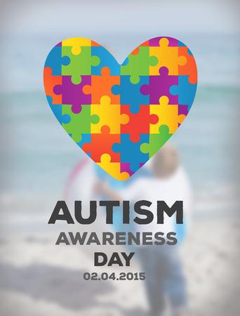 Digitally generated Autism awareness design vector Stock Vector - 38095311