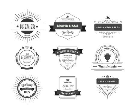 advertisement: Digital erzeugtes Schwarz Premium-Qualit�t Abzeichen Werbung Illustration