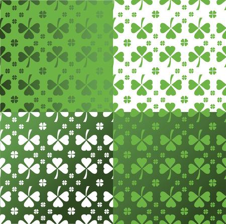 patty: Digitally generated Shamrock pattern vector