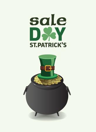 saint patty: Digitale generato St Patricks Day annuncio di vendita vettoriale