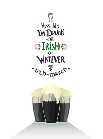 17th march: Digitally generated St patricks day greeting vector Illustration