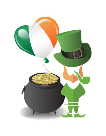 paddy: Digitally generated St patricks day vector with pot of gold