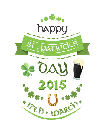 17th: Digitally generated St patricks day greeting vector Illustration