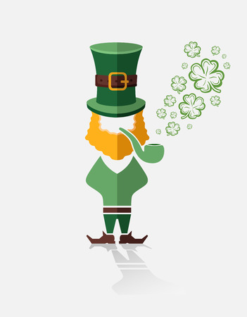 st patty day: Digitally generated St patricks day vector with leprechaun