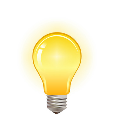 Digitally generated Light bulb vector Illustration