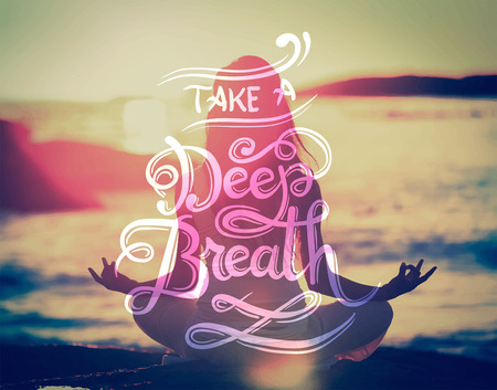Digitally generated Take a deep breath vector 向量圖像