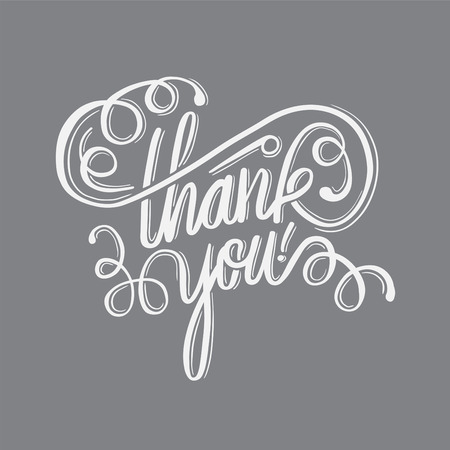 cursive: Digitally generated Thank you in cursive script Illustration