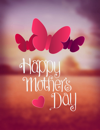 digitally generated: Digitally generated Happy mothers day vector