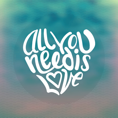 all love: Digitally generated All you need is love vector