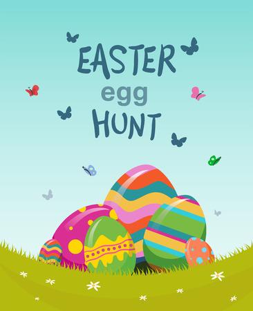 huevos de pascua: Generada digitalmente b�squeda de huevos de Pascua vector Vectores