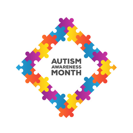 generated: Digitally generated Autism awareness design vector