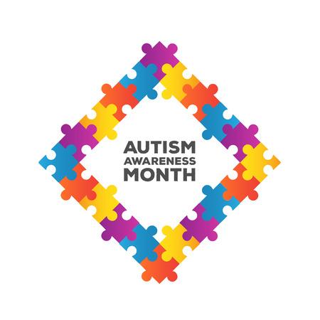Generada digitalmente autismo conciencia de diseño vectorial Foto de archivo - 38096416