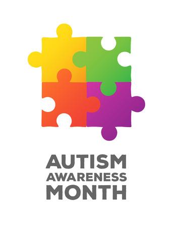 autism: Digitally generated Autism awareness design vector