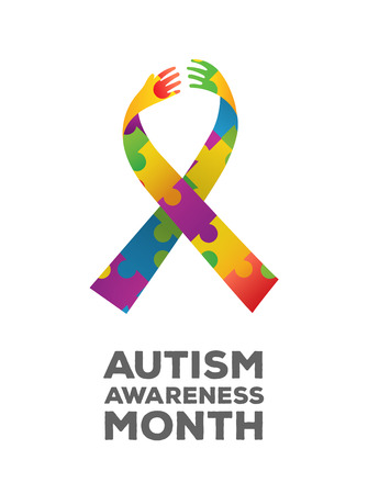 digitally: Digitally generated Autism awareness design vector