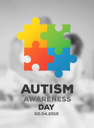 digitally generated: Digitally generated Autism awareness design vector
