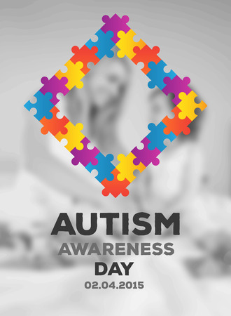 digitally generated: Digitally generated Autism awareness design vector