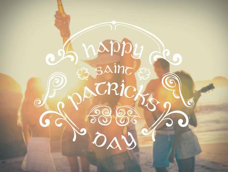 Digitally generated St patricks day greeting vector Illustration