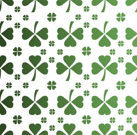 saint patty: Digitally generated Shamrock pattern vector
