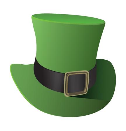 top hat: Digitally generated Green top hat vector