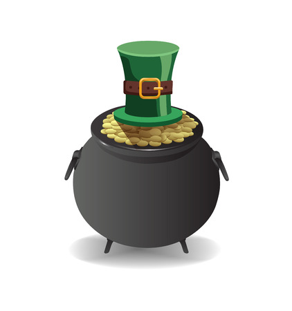 st  patty: Digitally generated St patricks day greeting vector Illustration