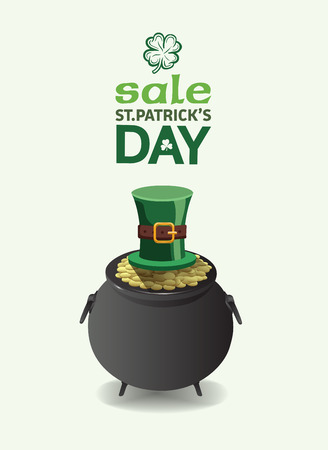 patty: Digitally generated St patricks day sale advertisement vector