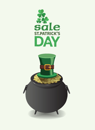 traditionally irish: Digitally generated St patricks day sale advertisement vector